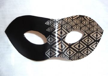 Exclusive Genuine Handmade Leather Silver Leaf Diamond Mask